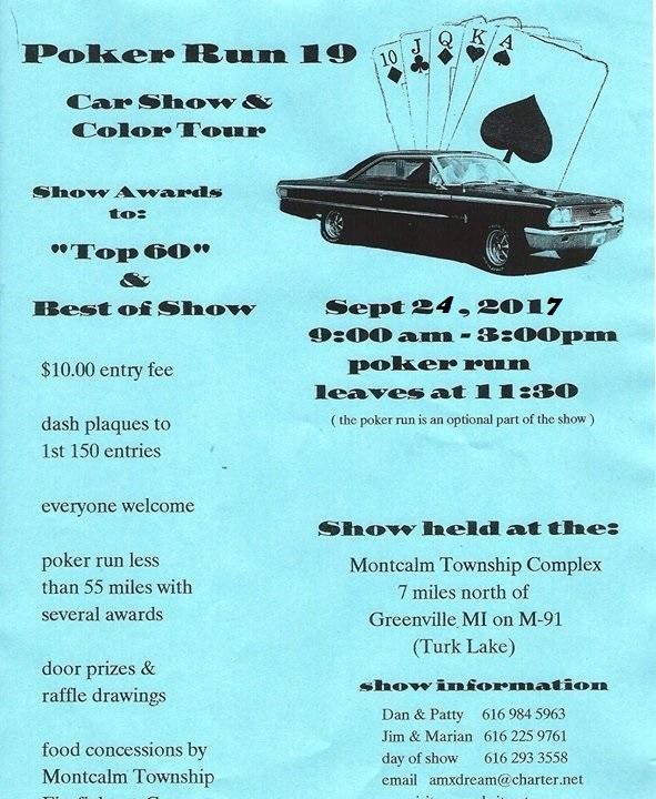 Poker Run Car Show Color Tour Camaros Of Michigan - September car shows