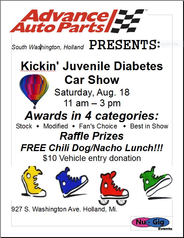Kickin Juvenile Diabetes Car Show Camaros Of Michigan - Car show award categories