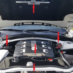 2010 – 2014 5th Gen Camaro V6 & V8 Engine Bay 7-Piece Kit