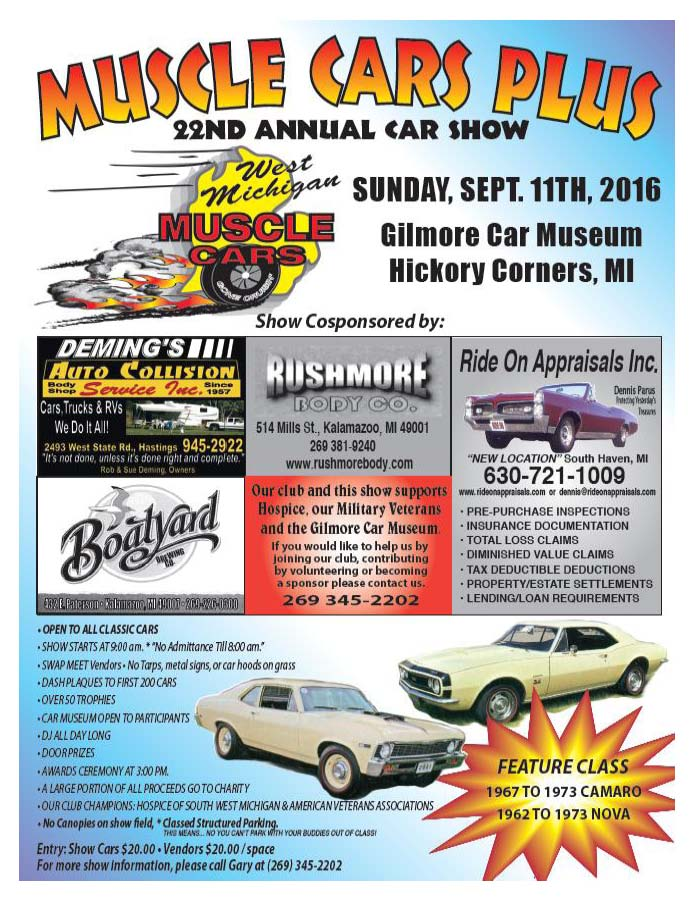 The 22nd annual Muscle Cars PLUS Show & Swap Meet - Camaro\'s of Michigan