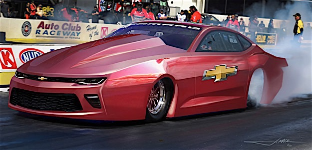 New NHRA Pro Stock Sixth-Gen Camaro SS Debuts At PRI - Camaro's of ...