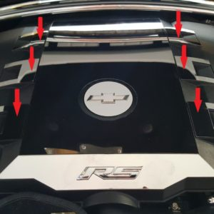 2010 – 2015 5th Gen Camaro V6 Engine Cover 6-Piece Inserts
