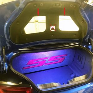 2016 – 2018 6th Gen Camaro Trunk Panel Inserts