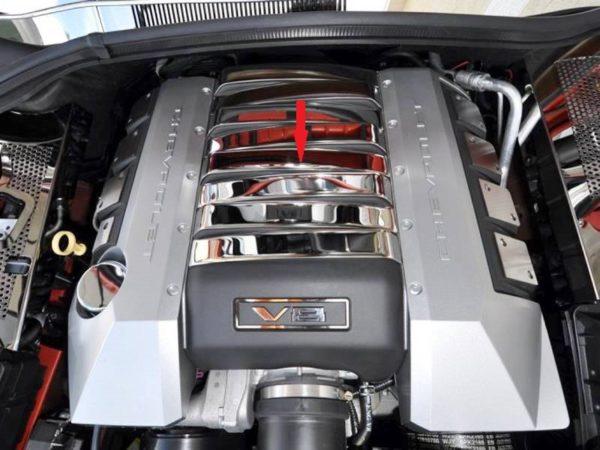 2010 – 2015 5Th Gen V8 Camaro SS Engine Cover Shroud Plenum Trim Inserts 8-Pc.