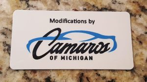 Camaro's of Michigan Official Engine Dash Plaque