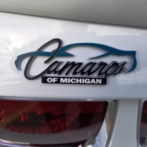 Camaro's of Michigan Official Logo Trunk Badge