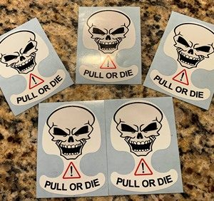 Camaros of Michigan Truck Pull or Die Sticker